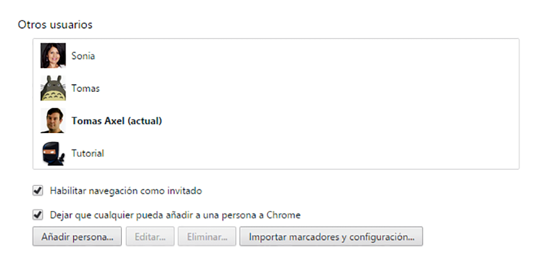 Cuenta Usuarios de Google
