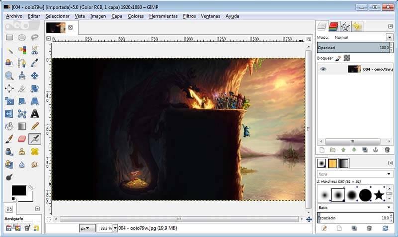 Programas de Diseño Grafico gratis GIMP