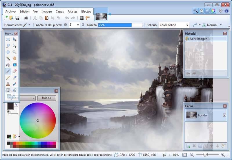 Programas de Diseño Grafico gratis Paint.net_