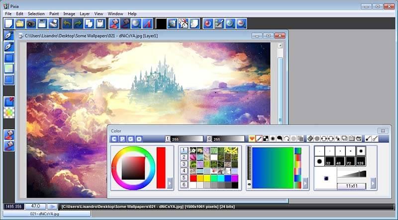 Programas de Diseño Grafico gratis Pixia