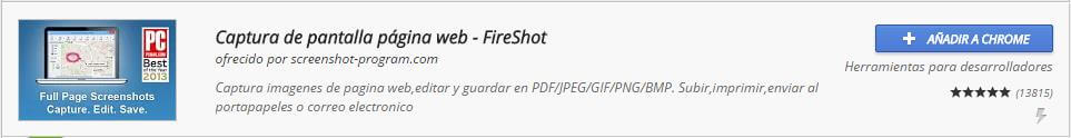 Extensiones Chrome FireShot