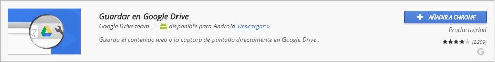 Extensiones Chrome Google Drive