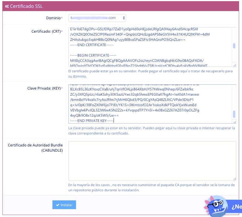 12 Instalar certificado - Como instalar Certificada SSL Gratis