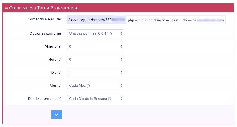 2 Tarea Crond - Como instalar Certificada SSL Gratis