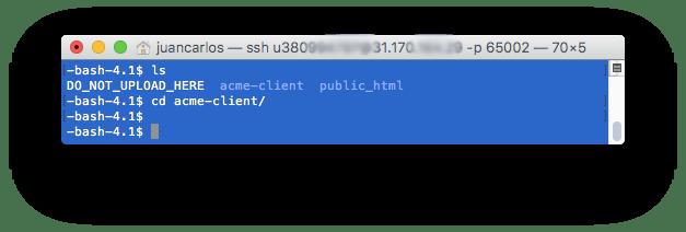 5 Directorio Acme - como instalar Certificada SSL Gratis