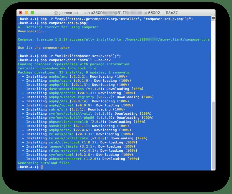 6 Descargar Composer - Como instalar Certificada SSL Gratis
