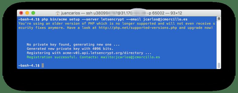 7 Generar certificado - Como instalar Certificada SSL Gratis