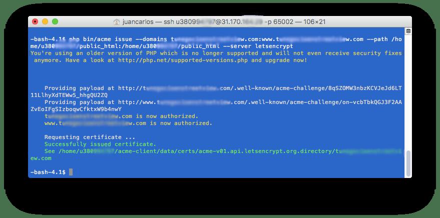 8 Generar certificado - Como instalar Certificada SSL Gratis