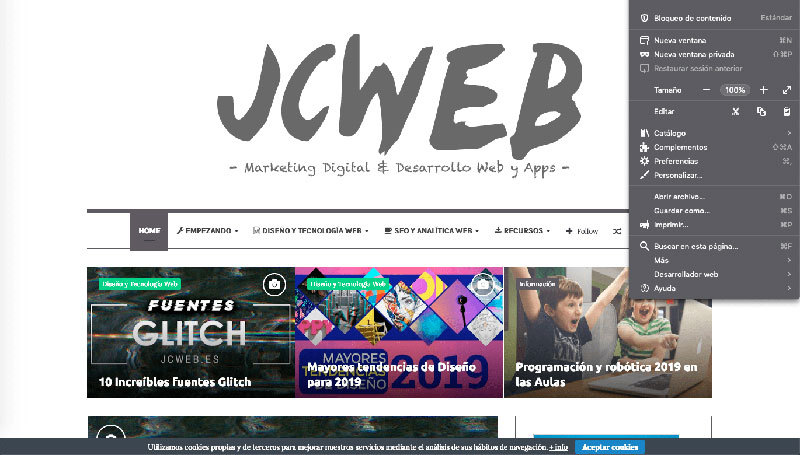 Mejor navegador web 2019
