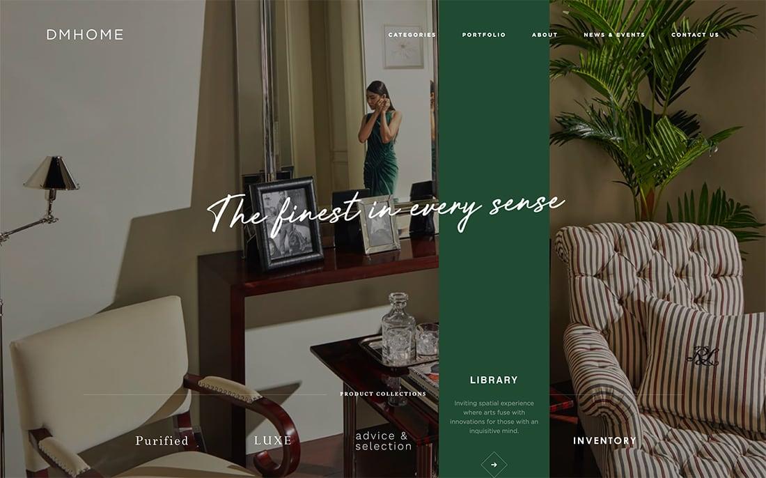 Elementos en capas 14 ejemplo de Tendencia en diseño web moderno para 2020