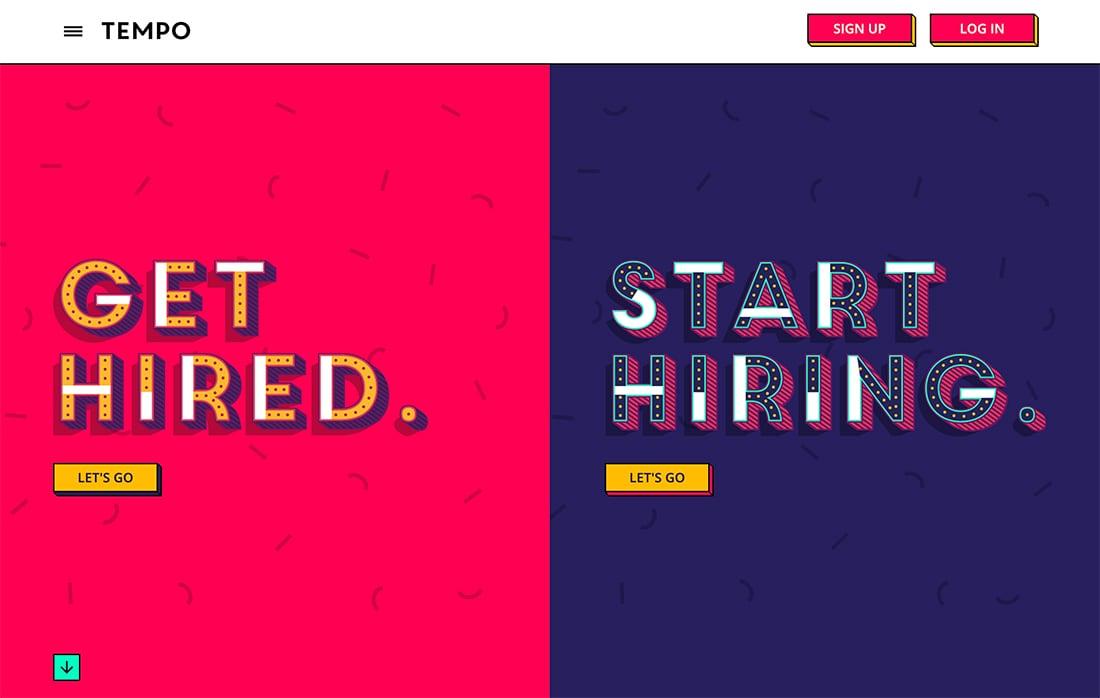 Multiples puntos entrada 6 ejemplo de Tendencia en diseño web moderno para 2020