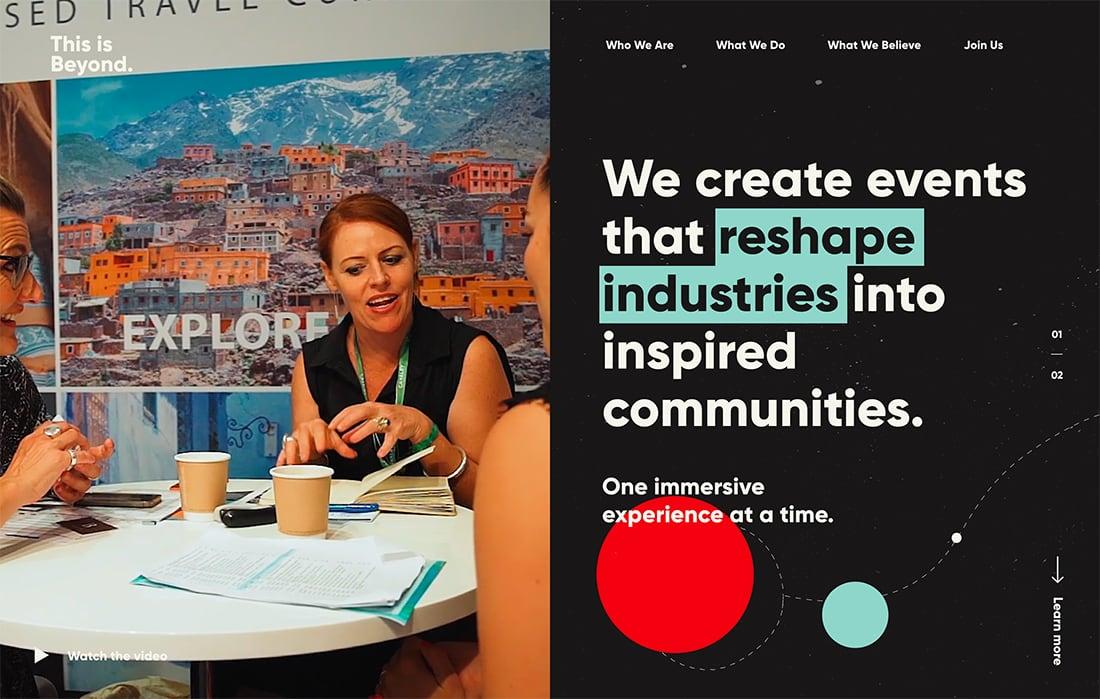 Vídeo vertical 11 ejemplo de Tendencia en diseño web moderno para 2020